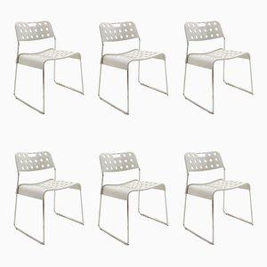 Vintage Omstak Stühle von Rodney Kinsman für Bieffeplast, 1972, 6er Set