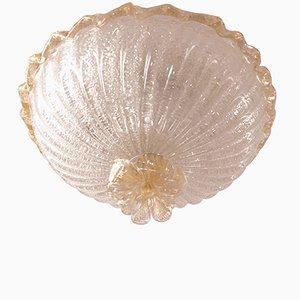 Plafonnier Encastré Vintage avec Particules d'Or de Barovier and Toso