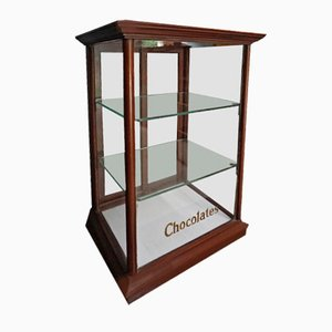 Vitrine Cadbury's Chocolate Antique en Acajou, 1900s