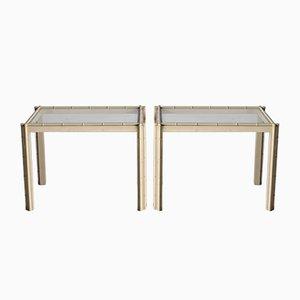 Italienische Tische in Bambus Optik, 1980er, 2er Set