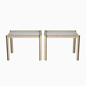 Tables en Faux Bambou, Italie, 1980s, Set de 2