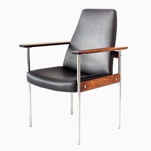 Vintage Palisander 1001 Armlehnstuhl mit hoher Rückenlehne von Sven Ivar Dysthe für Dokka