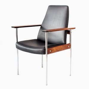 Vintage Rosewood 1001 High-Back Armchair by Sven Ivar Dysthe for Dokka
