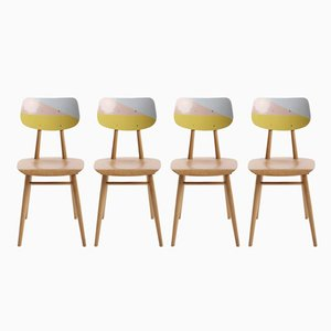 Czech Repainted Chairs from TON, 1960s, Set of 4