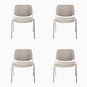 Industrial Chairs by Giancarlo Piretti for Castelli, 1960s, Set of 4