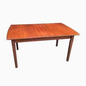 Ausziehbarer Teak Tisch, 1970er