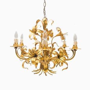 Lámpara de araña dorada de Hans Kögl