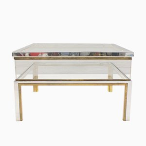 Vintage French Sliding Glass Coffee Table from Maison Jansen, 1970s