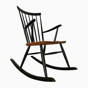 Sedia a dondolo di Roland Rainer per 2K, Scandinavia, anni '60