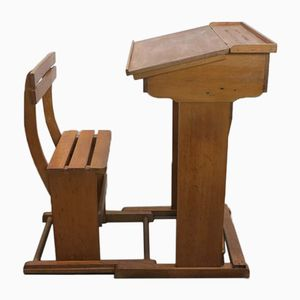 Wooden School Desk, 1910s