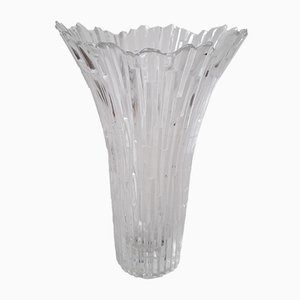 Vintage Revontulet Ice Glass Vase by Tauno Wirkkala for Humppila