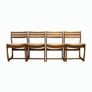 Dänische Range Teak Esszimmerstühle von Portwood, 1960er, 4er Set