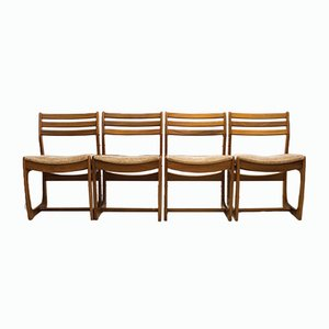 Danish Range Teak Dining Chairs from Portwood, 1960s, Set of 4