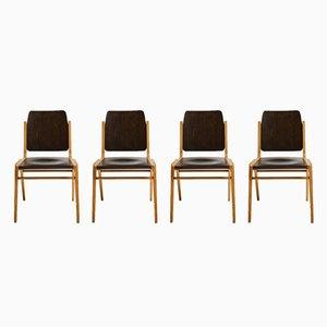 Chaises de Salon Austro Mid-Century en Hêtre par Franz Schuster pour Wiesner-Hager, Set de 4