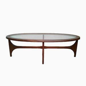 Table Basse Vintage Ovale en Teck par Stateroom pour Stonehill, 1960s