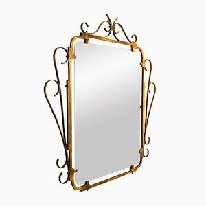 Vintage Mirror with Decorative Brass Frame