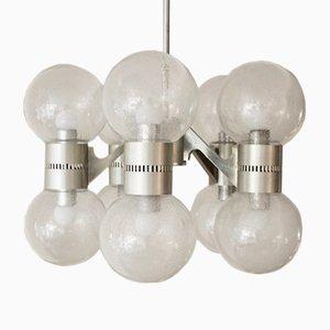 10 Pulegoso Glass Balls Chandelier, 1960s