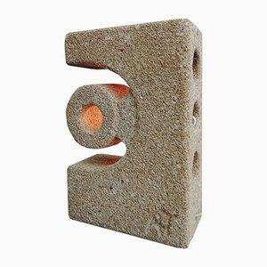 Lámpara de bloque de piedra caliza de Albert Tormos, años 70