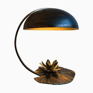 Lampe de Bureau Nénuphar en Bronze par Chrystiane Charles pour Maison Charles, France, 1970s