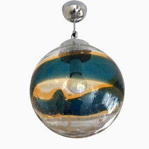 Vintage Italian Murano Glass Globe Ceiling Lamp by Gino Vistosi, 1960s