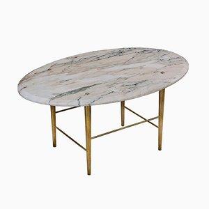 Mesa de centro Stud de mármol de verona y latón de Lind + Almond para Novocastrian