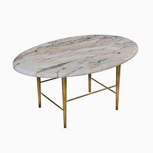 Stud Coffee Table in Rosso Marble & Brass by Lind + Almond for Novocastrian