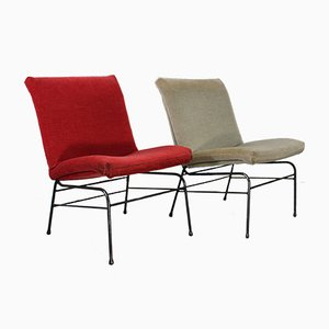 Mid-Century French Mohair Chairs, 1950s, Set of 2