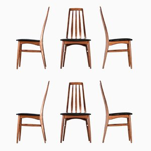 Danish Eva Chairs by Niels Koefoed, 1960s, Set of 6