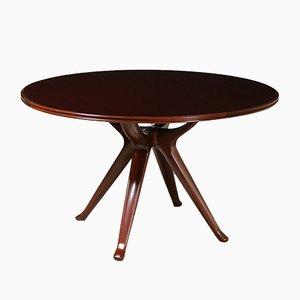 Tavolo vintage in mogano di Osvaldo Borsani, Italia, anni '50