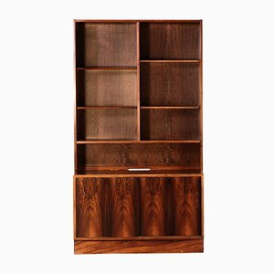 Rosewood Danish Bookcase by Poul Hundevad, 1970s