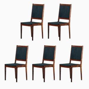 Dänische Palisander Esszimmerstühle, 1960er, 5er Set