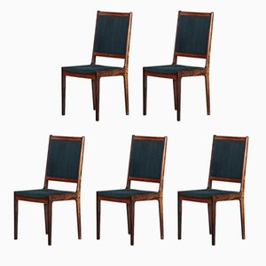 Danish Rosewood Dining Chairs, 1960s, Set of 5