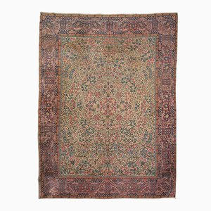 Antique Middle Eastern Rug with Floral Decoration, 1900s