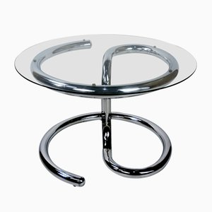 Anaconda Chrome and Glass Coffee Table by Paul Tuttle for Strässle, 1970s