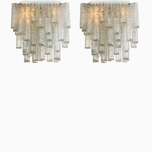 Square Ceiling Lamps from Doria Leuchten, 1969, Set of 2