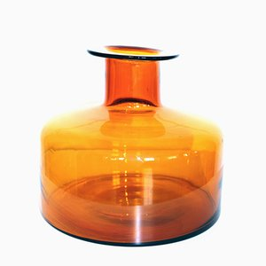 Bernsteinfarbene Vase von Otto Brauer für Holmegaard, 1960er