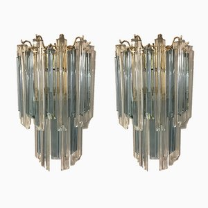 Triedri Wall Lamps from Venini, Set of 2