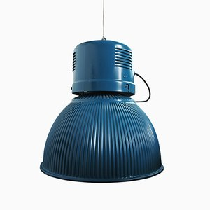Large Vintage Blue Lamp