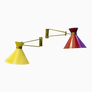 Vintage Wall Lights by René Mathieu for Lunel, Set of 2