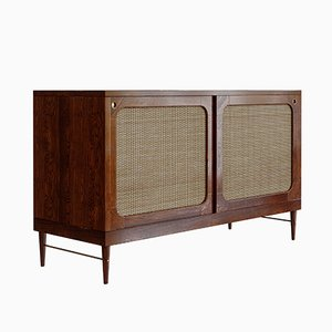 Sideboard in Cognac Oak & Rattan by Lind + Almond for Jönsson Inventar