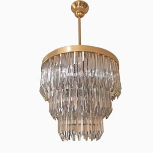 Vintage Murano Crystal Chandelier from Camer Glass, 1960s