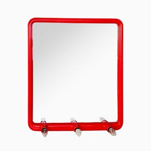 Space Age Rectangular Mirror with Lights, 1980s