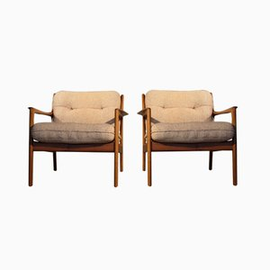 USA-75 Easy Chairs by Folke Ohlsson for DUX, 1960s, Set of 2