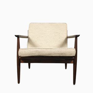 Mid-Century Afromosia Easy Chair by Arne Vodder for Gløstrup, 1960s