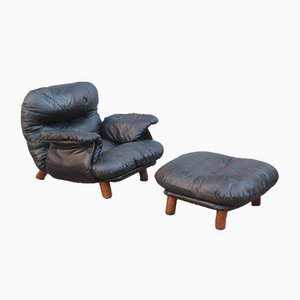 Lounge Chair & Ottoman by E. Cobianchi for Insa Design, 1970s