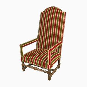 19th Century High Back Armchair