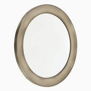 Nickel-Plated & Brass Mirror by Sergio Mazza for Artemide, 1960s