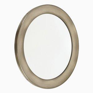 Specchio in ottone e placcato in nichel di Sergio Mazza per Artemide, anni '60