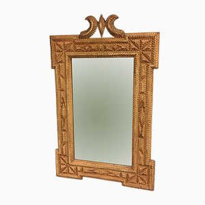 Vintage American Tramp Art Mirror