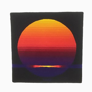 Sun Wall Rug by Ewald Kröner for Schloss Hackhausen, 1970s